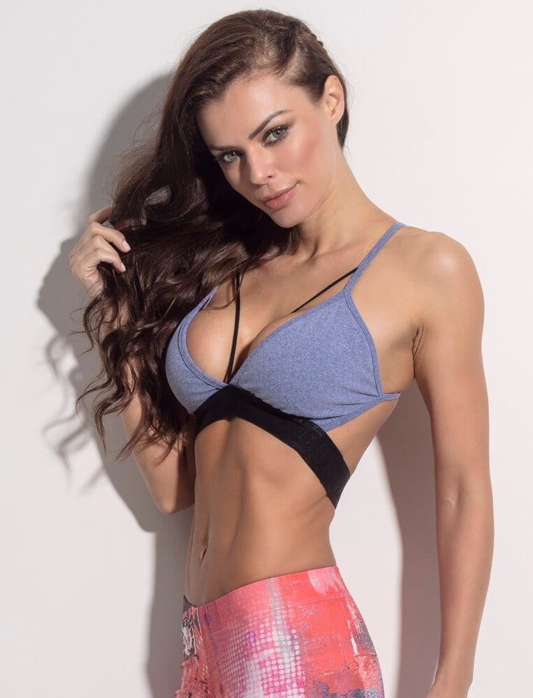 SUPERHOT Bra TOP1142 SEXY Workout Tops Cute YOGA Sport Bra Ring