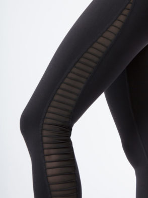 ALO Yoga Luminous Legging Mesh Black Sexy Yoga Leggings