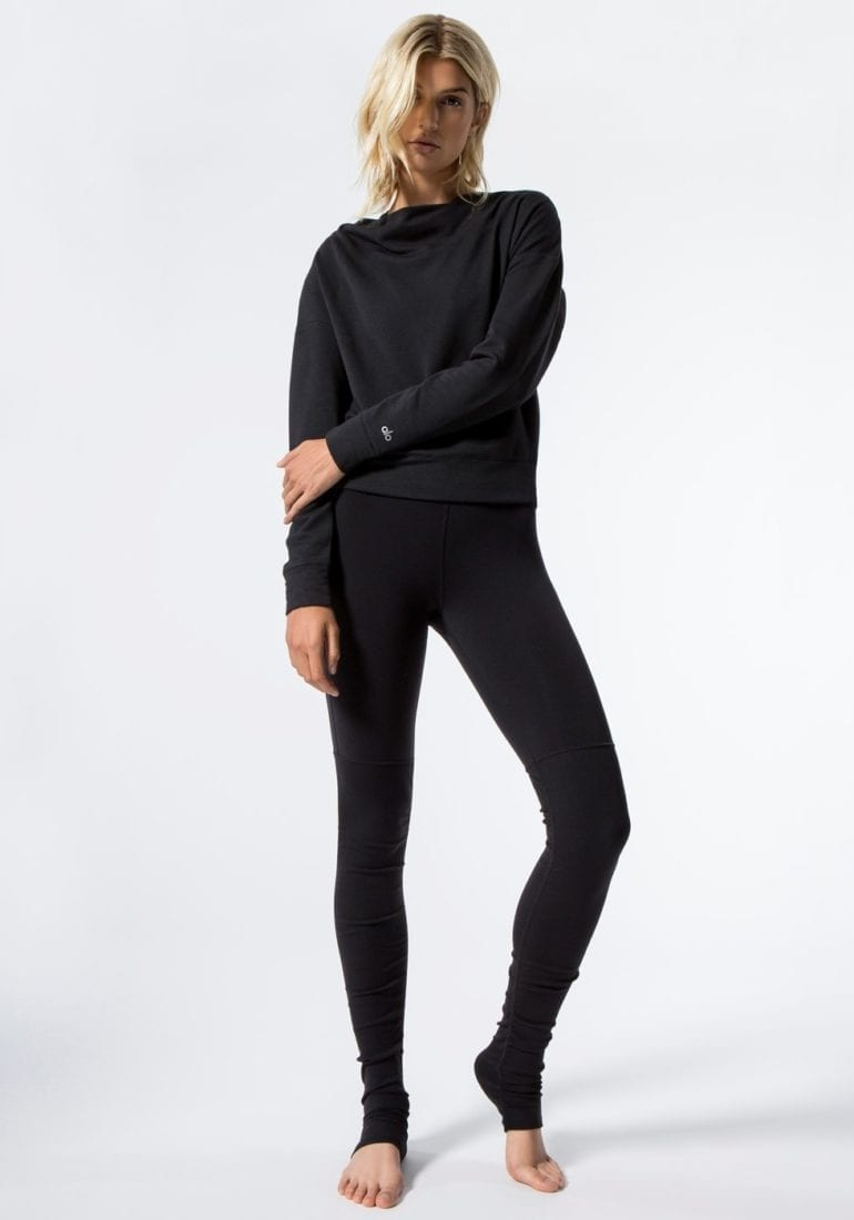 2f642a0d88 ... ALO Yoga Goddess Legging Ribbed Black Sexy Yoga Leggings. ALO Yoga Long  Sleeve Top Uplift - Sexy Yoga Tops BK. Touch to zoom