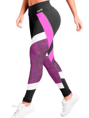 OXYFIT Leggings Turn-Up 64043 Hot Pink – Sexy Workout Leggings