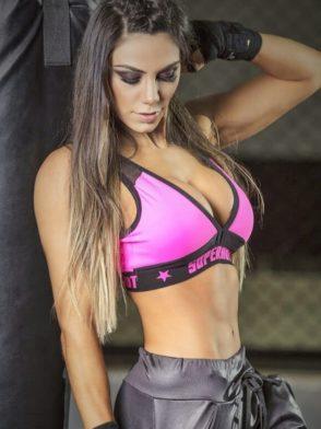 SUPERHOT Sports Bra TOP1232 Hustle Cute Yoga Sport Bra