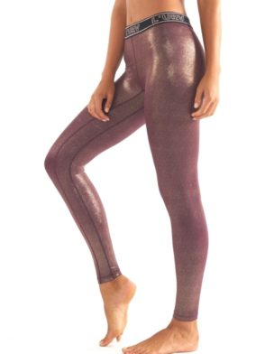 L'URV Leggings ALL THAT GLITTERS Legging Fig Gold – Sexy Workout Tights