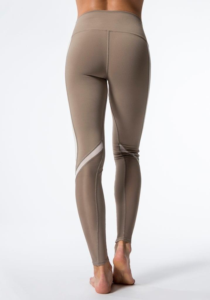 ALO Yoga Elevate Leggings Sexy Yoga Pants - Gravel