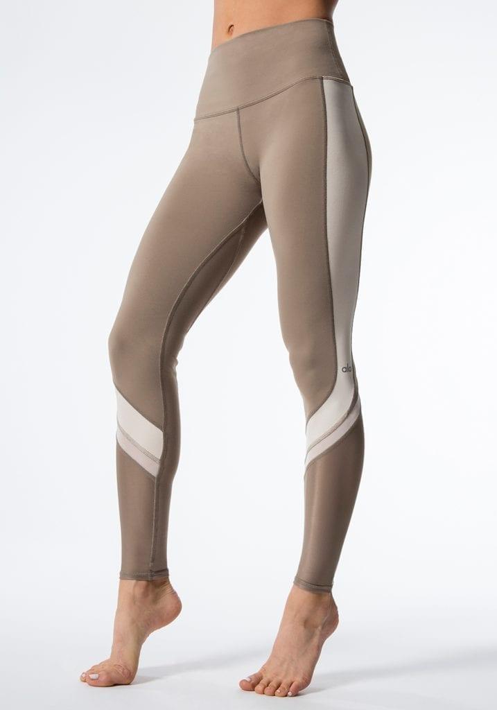 ALO Yoga Elevate Leggings Sexy Yoga Pants – Gravel