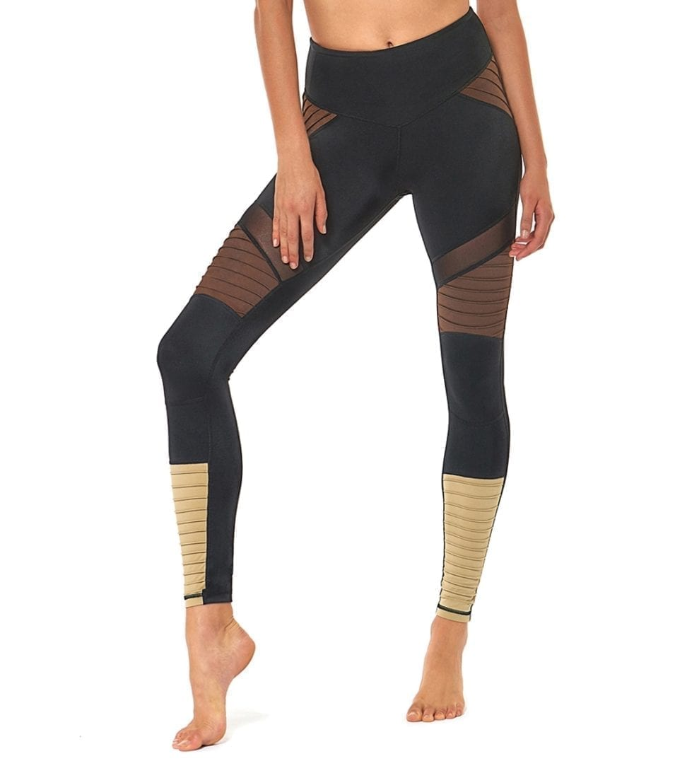 L'URV Leggings SHAKE YOUR BOOTY Leggings Sexy Workout Tights BK Choco Gold