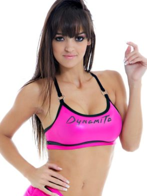 DYNAMITE Sports Bra Top T206 Cirre Pink Swimmer Top -Sexy Tops