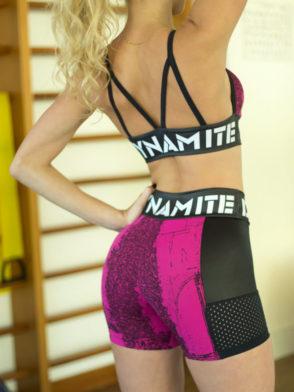 DYNAMITE BRAZIL Shorts SH979 Pink Splash -Sexy Brazil Shorts