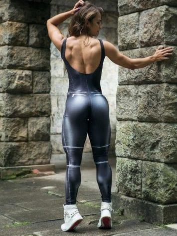 DYNAMITE Jumpsuit Macacao ML2080 BIKER- Sexy Romper