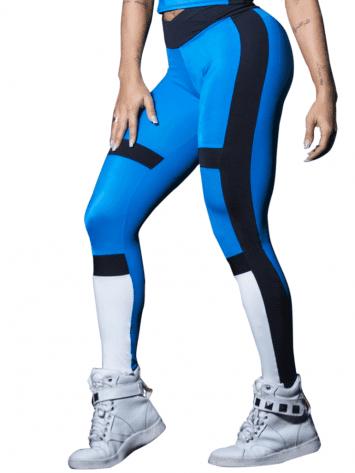 CANOAN Leggings 11545 Blue Black White- Sexy Workout Leggings
