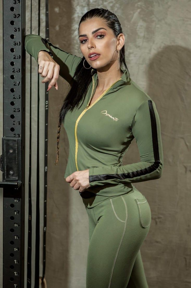 DYNAMITE BRAZIL Victory Jacket CA502 – Sexy Workout Long Sleeve Jacket