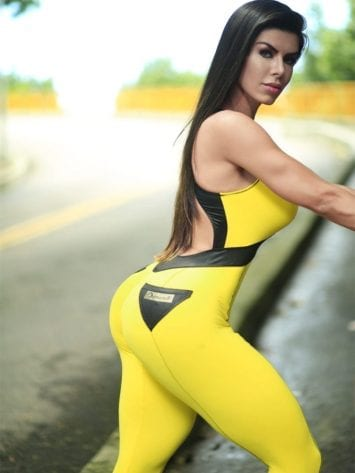 DYNAMITE BRAZIL Jumpsuit ML2018 Yellow Black Bulldoozer