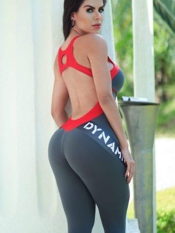 DYNAMITE BRAZIL Jumpsuit ML2018 Fitness Manipulator – Gray/Red